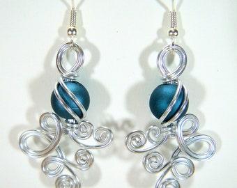 Double Loop de Loop with Blue Bead