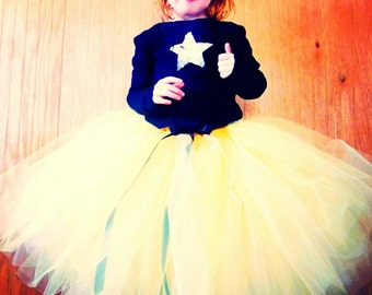 Lemon Drop - Sewn Yellow Tulle Skirt - Couture Tutu - in your choice of length and size - flower girls, costume, girls tutu