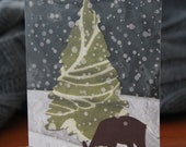 Deer Holiday Card - Single Card