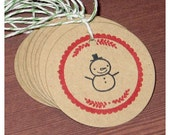 Snowman Christmas Tags : Very Merry Gift Tags - Set of 12