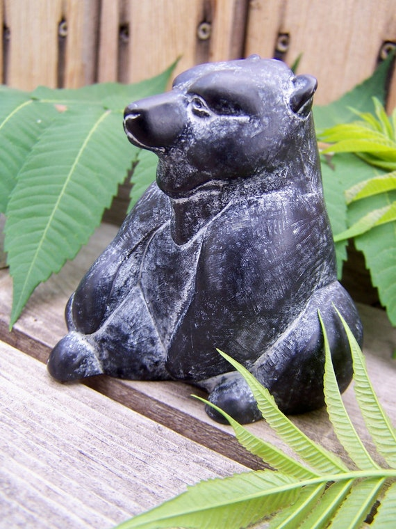 Vintage Collectible Boma Black Bear , Canadian Native Americana Reproductions , Boma with Cipher marks