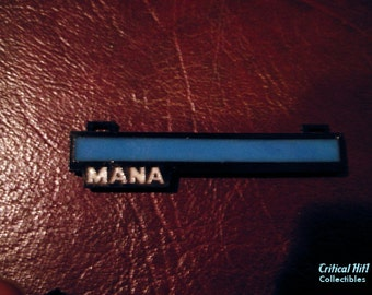 Glowing Mana Bar Necklace / Pin video game jewelry geek pendant health bar