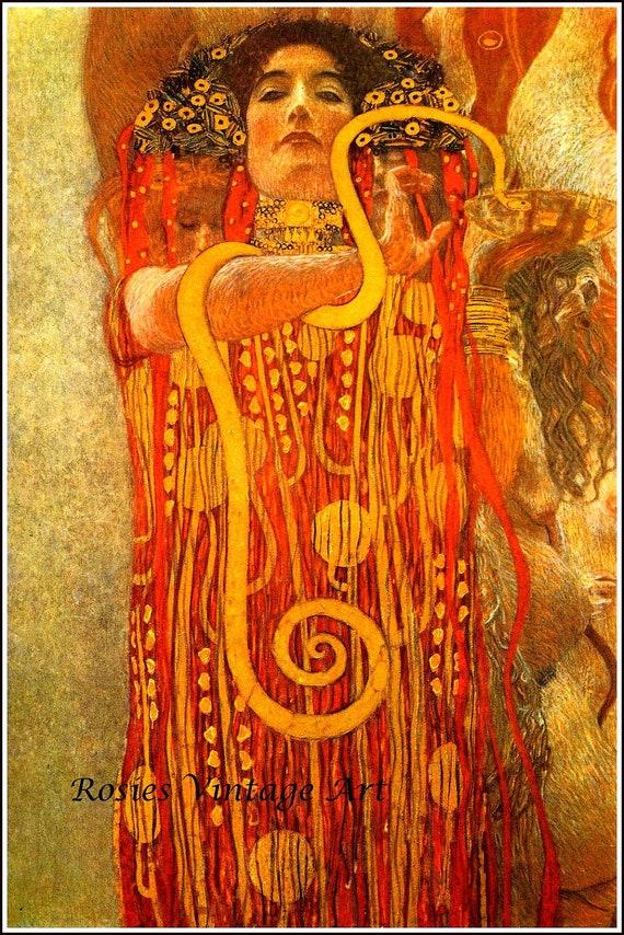 Hygeia Detail from Medicine Gustav Klimt 1907 Giclee Art