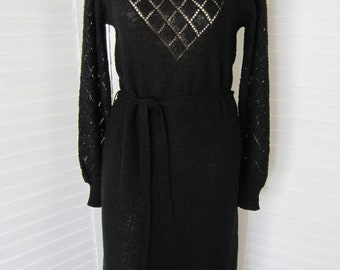 Black Sweater Dress - Size M