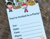 Pirate Boy Party - Set of 8 Pirate Boy Invitations by The Birthday House