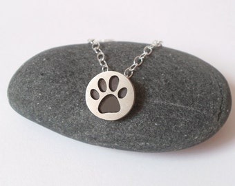 Pawprint Necklace In Oxidized Sterling Silver, Handmade In The UK