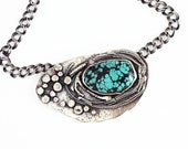 Alpine Lake Turquoise and Sterling Silver necklace - Ready to Ship