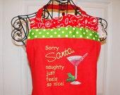 Santa Drink  Naughty Holiday Apron