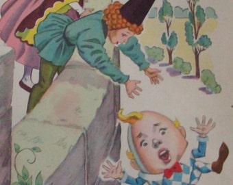 1944 Humpty Dumpty Antique Illustration