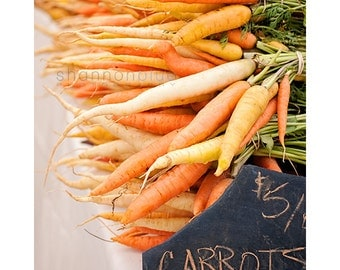 farmer's market food photography / carrots, organic, food, thanksgiving, kitchen decor, orange, vegetable, harvest
