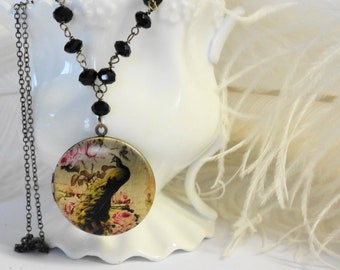 Peacock  Locket  Necklace Photo picture