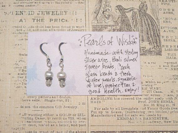 Pearls of Wisdom smokey sparkle grey