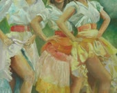 Dancing Girls and Skirts        prints or greeting cards