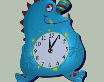 Monster Boys Wooden WALL CLOCK for Kids Bedroom Baby Nursery WC0057
