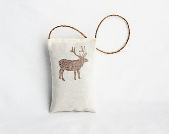 Christmas Hostess Gifts, Elk Balsam Sachet, Modern Christmas Decor Door Hanger