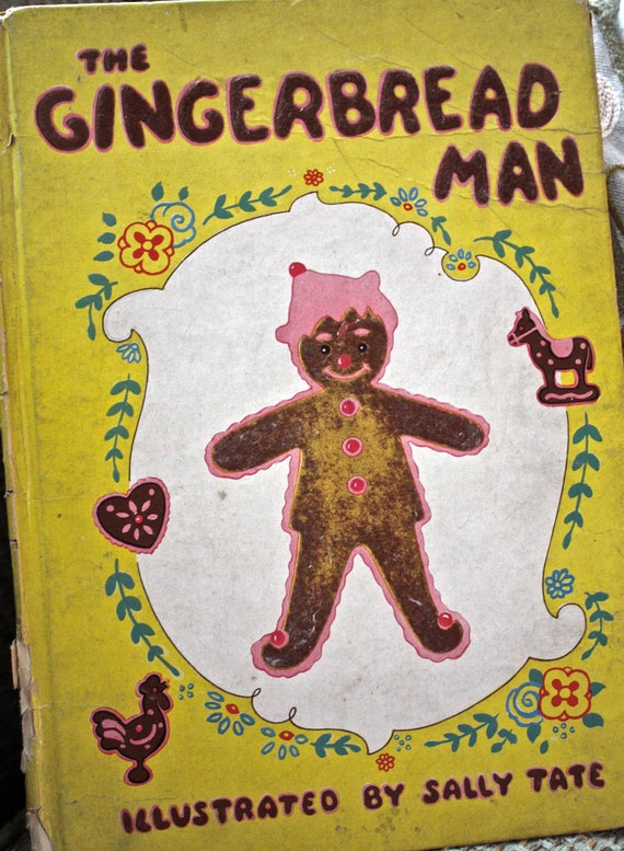 The Gingerbread Man-1944-childrens book-hard cover-vintage