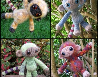Woolly Monkey Amigurumi Pattern PDF