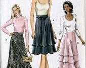 Vogue 7972 UNCUT Misses Garden Party Full Skirt Sewing Pattern Sizes 8-12 Waist 24.5-26.5
