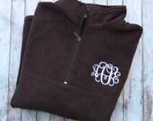 Monogrammed Pullover, Quarter Zip, Monogram Sweatshirt, Monogram Pullover, Fleece Pullover, Popover, Personalized Sweatshirt
