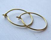 hypoallergenic gold niobium hoop earrings for sensitive ears choose your size handmade by Variya