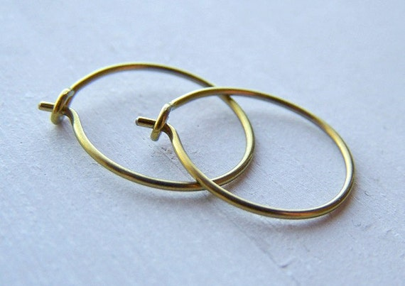 hypoallergenic gold niobium hoop earrings for sensitive ears
