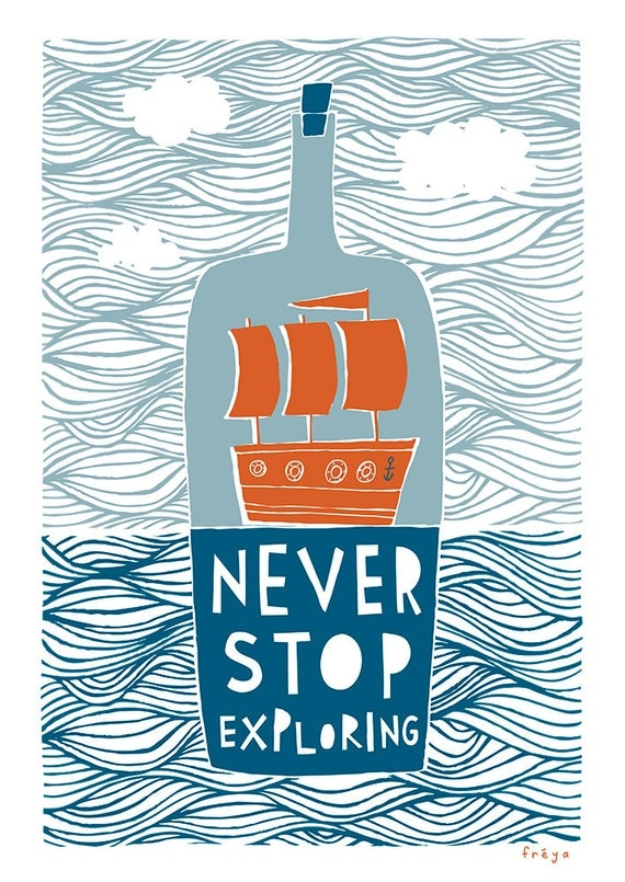 Never Stop Exploring - Fine Art Print (Large)