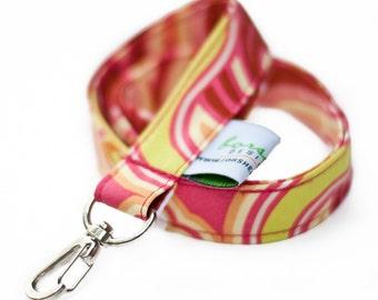 Key Holder Keychain Fabric Badge Holder ID Badge Holder Teacher Gift Teacher Lanyard Cute Lanyard Nurse Lanyard Fabric Lanyard Blue Lanyard