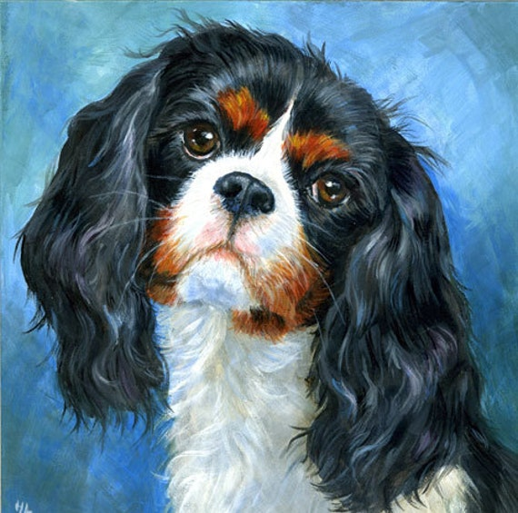 custom pet portrait dog painting from your photo handmade