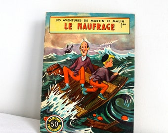 60s - French children book - Martin le malin LE NAUFRAGE