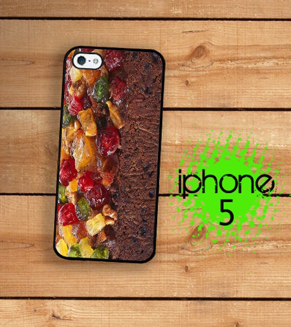 iPhone SE 5S Funny Fruitcake Plastic or Rubber Case for iPhone 5 iPhone 5S Grandmas Holiday Christmas Fruitcake