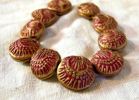 Handmade Red Poppy Bead