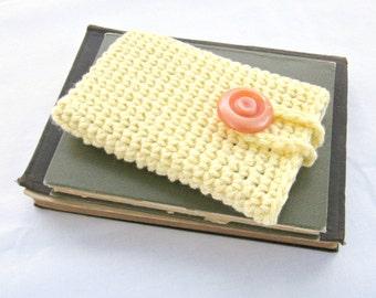 Crochet Phone Case, Cotton Phone Case, Phone Cover, cell phone case, cell phone cover, ipod case, buttoned case