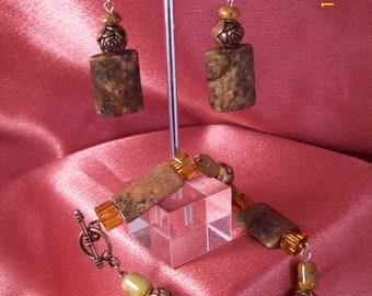 Sedona-Picture Jasper Bracelet and Matching Earrings