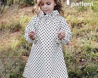 the ASPEN ruffle dress PDF PATTERN size 3m to 6