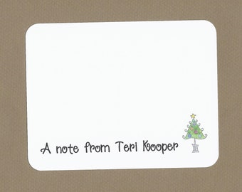 Christmas Tree Cards - Christmas Party Cards, Custom Christmas Tree Thank Yous, Teacher Christmas Thank You Cards, Childrens Christmas Cards