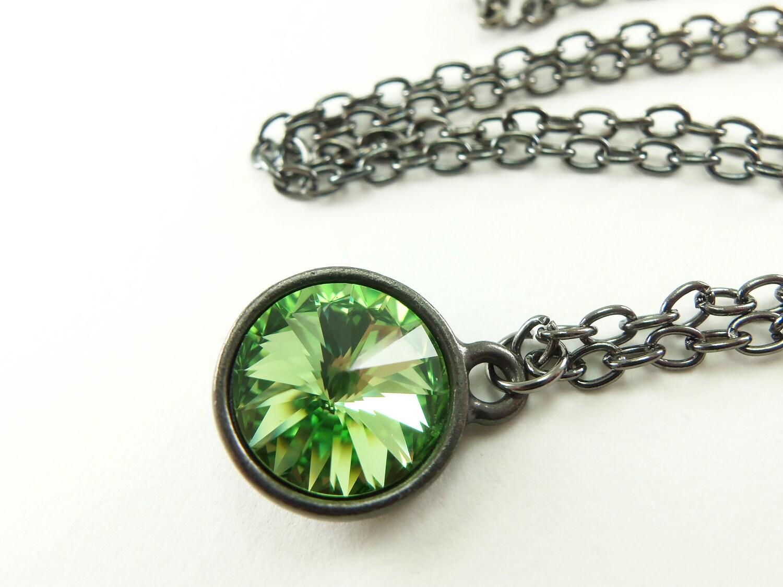 August birthstone jewelry peridot birthstone necklace by jalycme