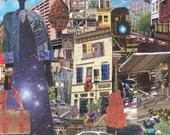 City In Autumn ORIGINAL collage
