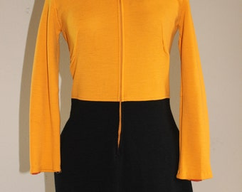 Vintage Swinging London Mod Color Block Mini Dress sz 4