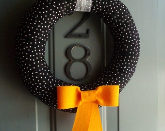 Fabric Wreath Felt Handmade Door Decoration - Bow-tiful 12 in