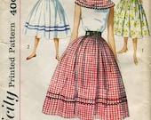Simplicity 2426   UNCUT Vintage 1950s Rockabilly Teen Full Skirt, Blouse and Cummerbund pattern