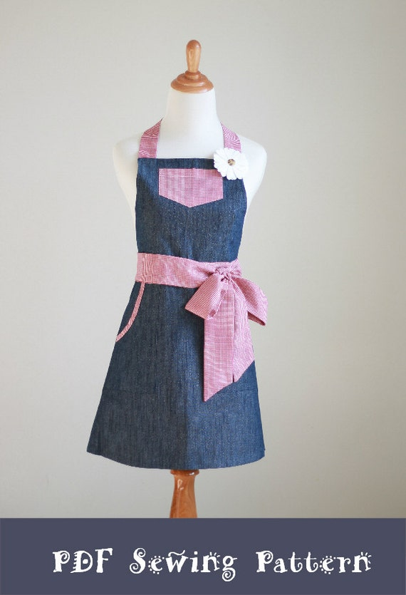 PDF Apron Pattern and Tutorial - The CRAZY DAISY - Instant Download Sewing Pattern #103