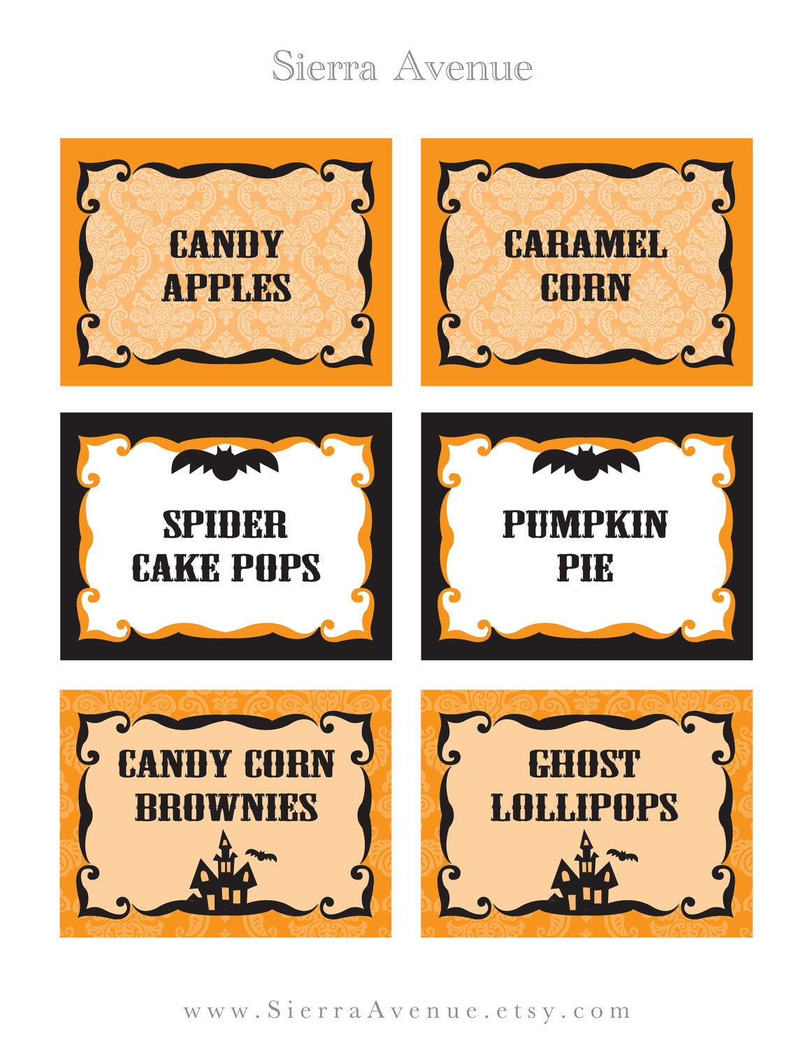 Let's Party: New Halloween Printable Party Collections in ... |Halloween Party Food Labels