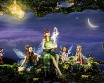 The Storyteller by Susan Schroder - Mythic Fantasy Fairy Art