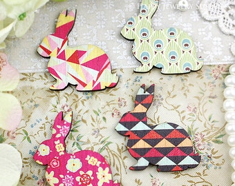 8Pcs Mini Handmade Vintage Rabbit Charms / Pendants (CWL03)