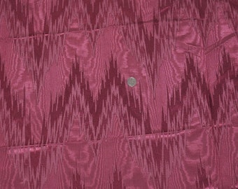 2 Yards Vintage Cranberry Red Water Taffeta Design Cotton Fabric Jewel Color Fabric Red Fabric