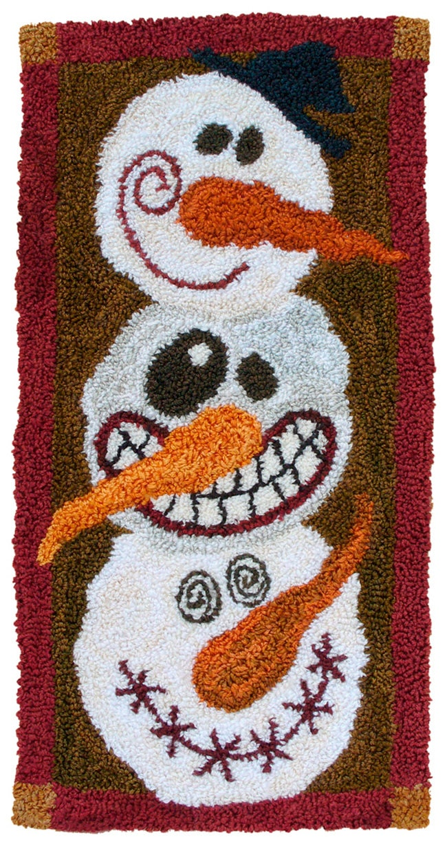 We Can Build A Snowman Pattern For Punch Needle Embroidery