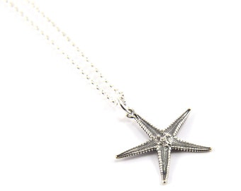 Sterling Silver Tiny Starfish Necklace - Cast from a Real Star fish