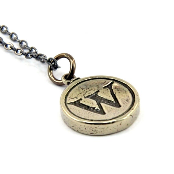 Letter W Charm Necklace - White Bronze Initial Typewriter Key Charm Necklace - Gwen Delicious Jewelry Design GDJ