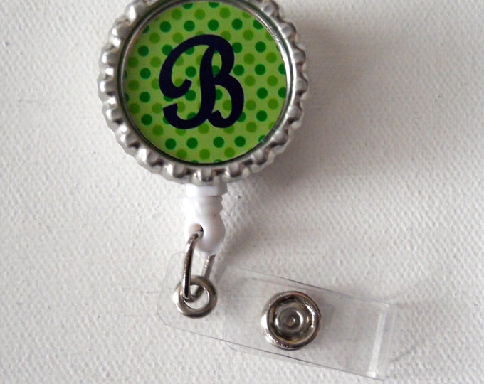 Personalized Polka Dot - Nursing Badge Holder - Name Badge Reel - Nurse Badge Clip - Cute ID Badge Reel - RN - Gift Under 10