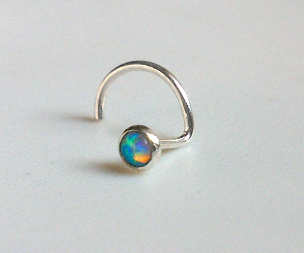 Tiny Opal Nose Stud,